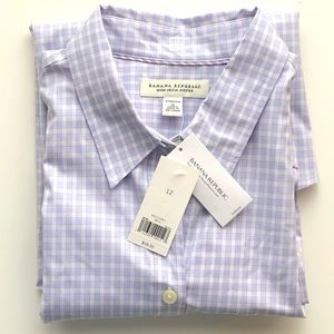 NWT Banana Republic non-iron fitted button down